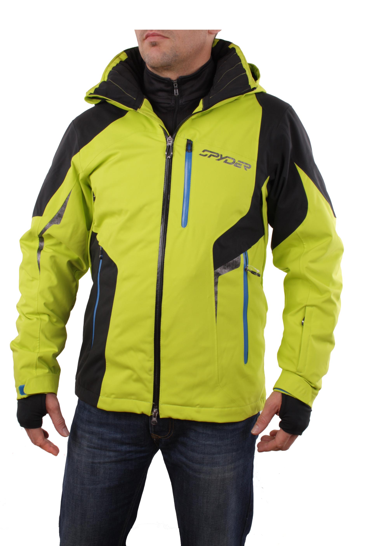 spyder herren 133058 327 skijacke quest chambers jacket sharp lime gr s sp1101 ebay. Black Bedroom Furniture Sets. Home Design Ideas
